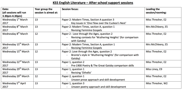 ks5-english-literature-after-school-support-sessions