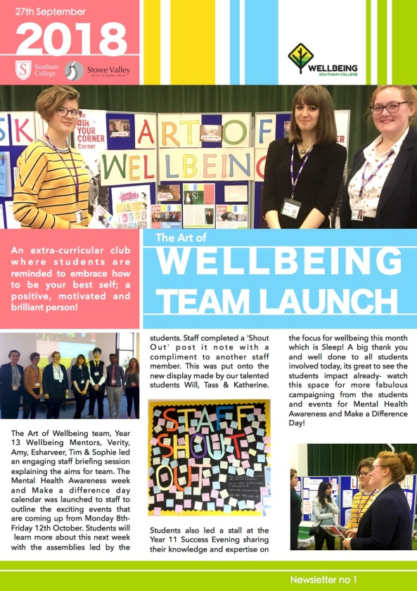 wellbeing newsletter 1